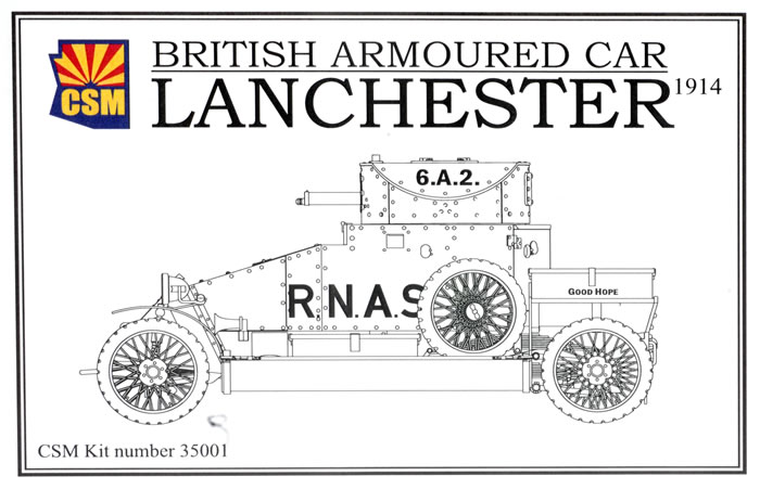 Copper State Models Item No. CSM 35001- 1/35 Lanchester