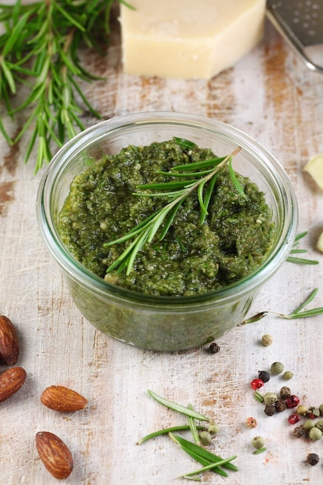 Rosemary Pesto Recipe from MissintheKitchen.com