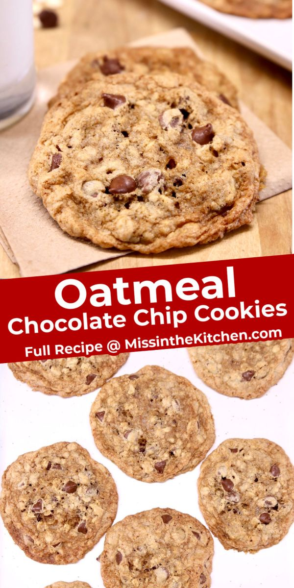 collage chocolate chip oatmeal cookies