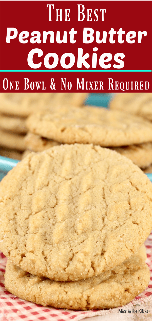 The Best Peanut Butter Cookies made easily in one bowl