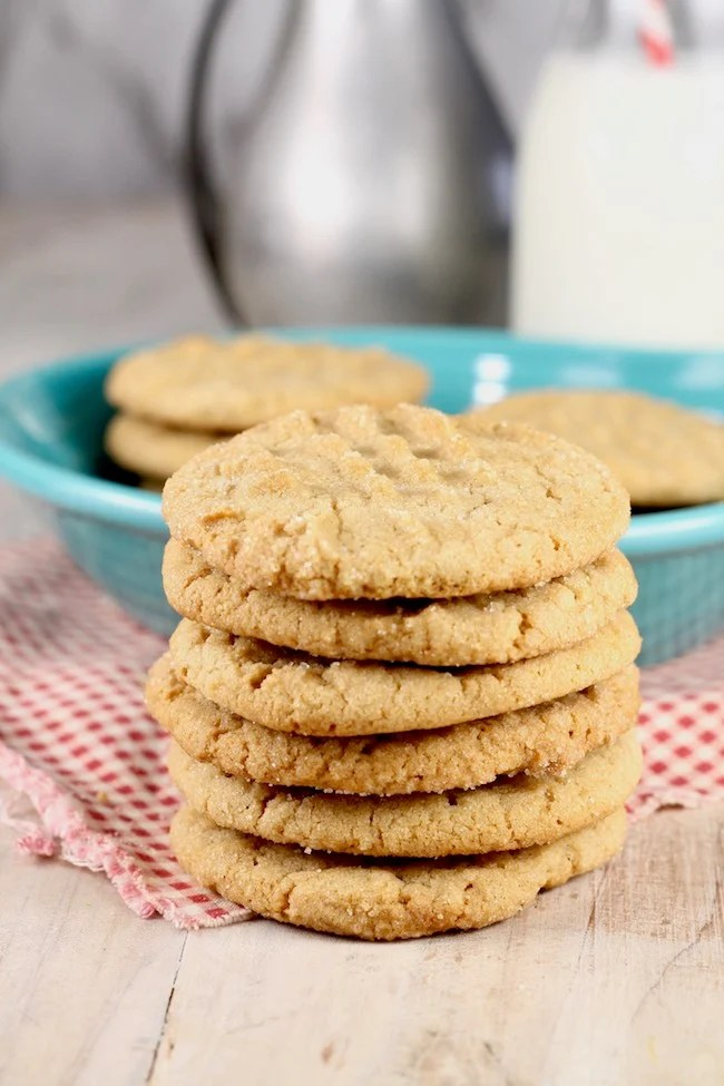Stack of Classic Peanut Butter Cookies