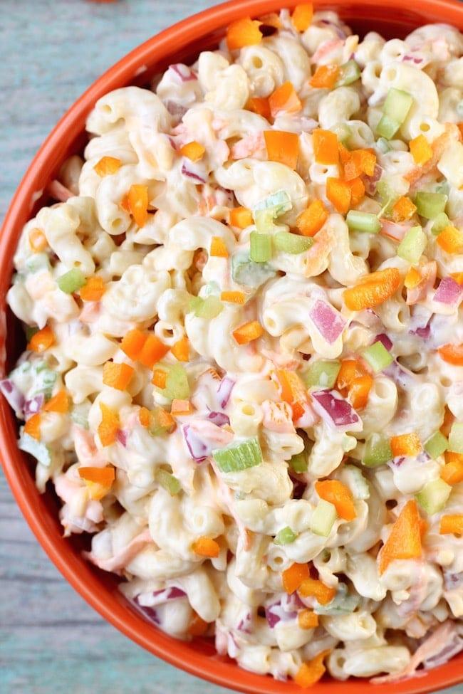Overhead Bowl The Best Macaroni Salad