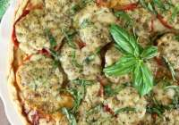 Tomato Pesto Tart Recipe ~ Summer Appetizer ~ MissintheKitchen.com