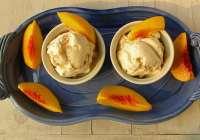 Roasted Peaches & Honey Ice Cream