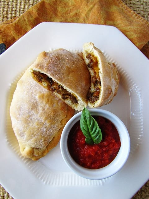 Sausage & Pepper Calzones | Miss in the Kitchen