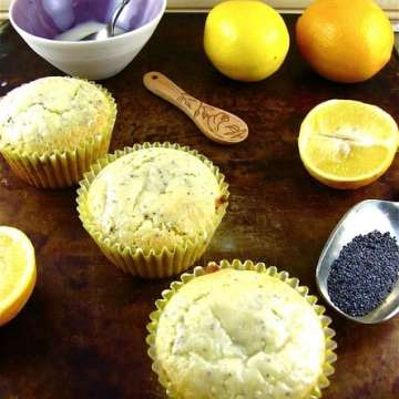 Meyer Lemon Poppy Seed Muffins | Miss in the Kitchen