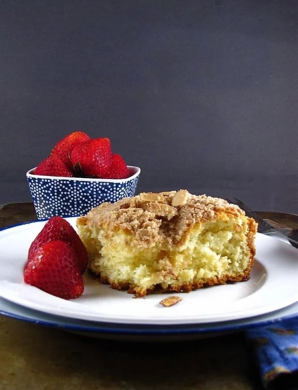 Almond Streusel Coffee Cake - Miss in the Kitchen