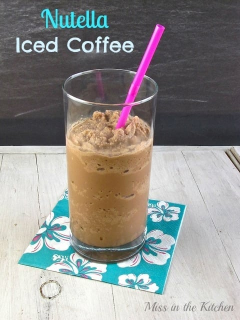 Nutella Iced Coffee Recipe - Miss in the Kitchen