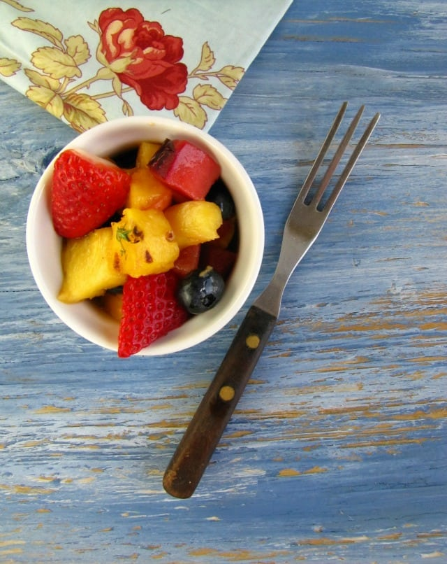 Grilled Fruit Salad from Miss in the Kitchen