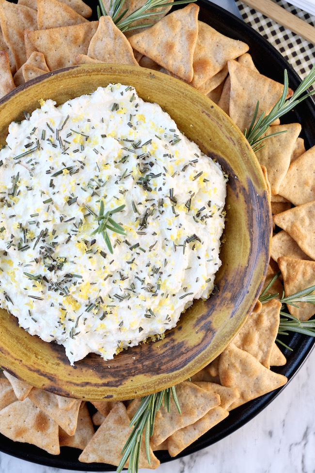 Easy Whipped Feta Spread and party dip