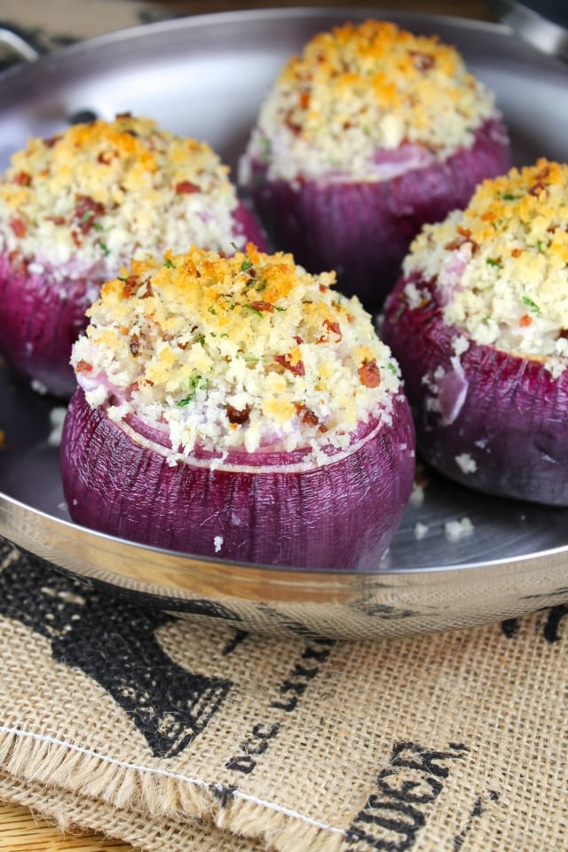 Creamy Roasted Red Onions for Anolon's Make it Yours Giveaway from Miss in the Kitchen