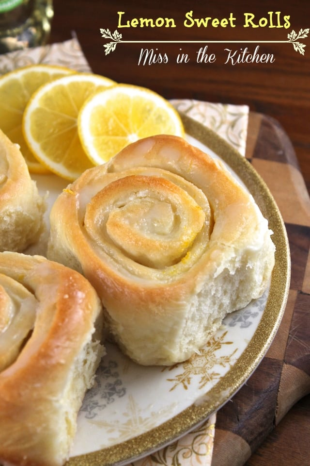 Lemon Sweet Rolls from Miss in the Kitchen
