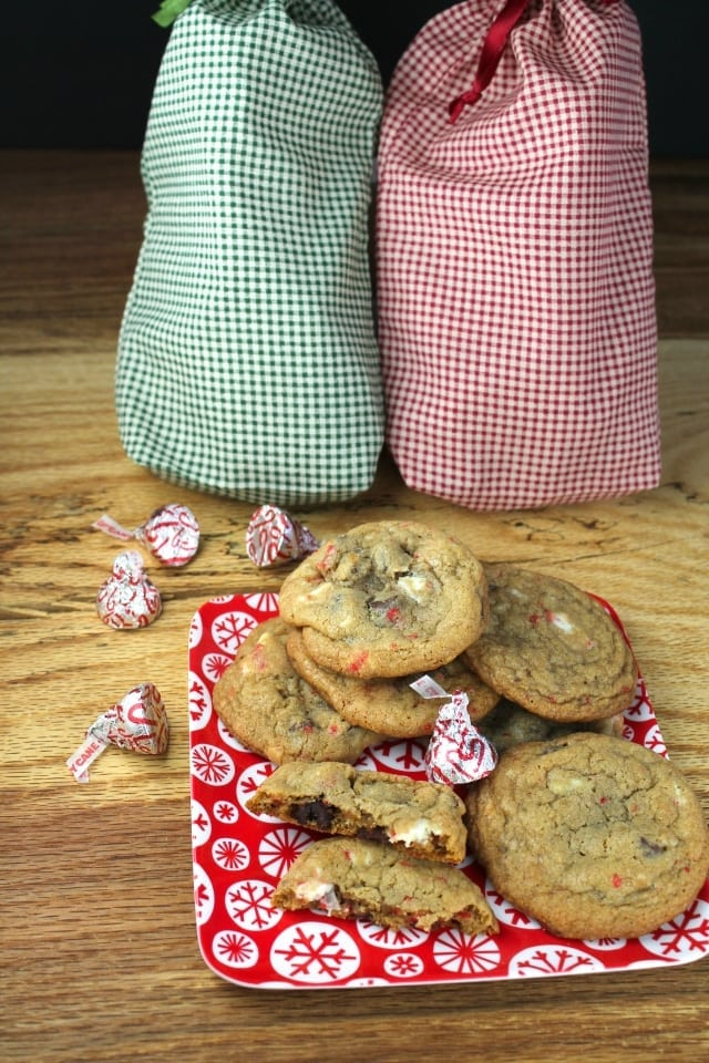 peppermint choc chip cookies