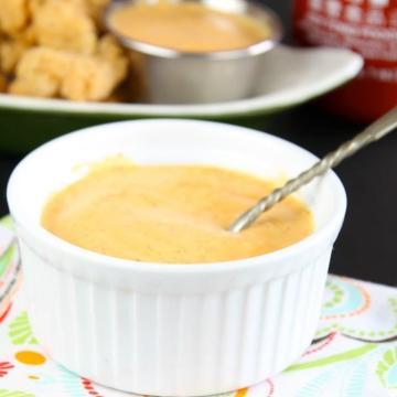 sriracha comeback sauce in a small white bowl