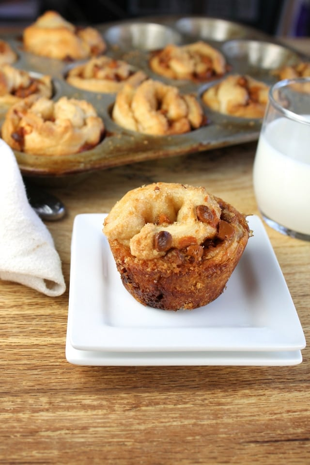 3 Ingredient Cinnamon Chip Muffins Recipe from Miss in the Kitchen