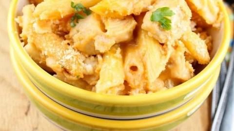 Creamy Swiss & BBQ Chicken Penne Pasta
