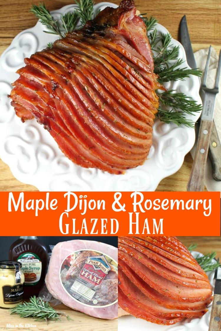Maple Dijon Rosemary Glazed Ham Recipe