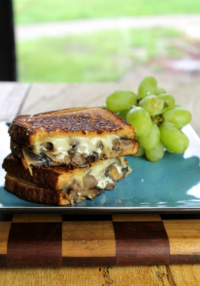 Steak, Mushroom & Swiss Grilled Cheese Recipe