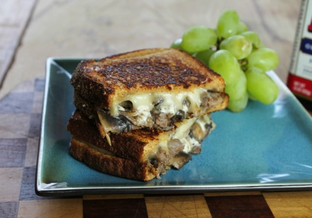 Steak Mushroom & Swiss Grilled Cheese Sandwich