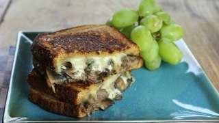 Steak, Mushroom & Swiss Grilled Cheese