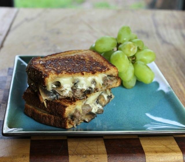 Steak and Mushroom Grilled Cheese