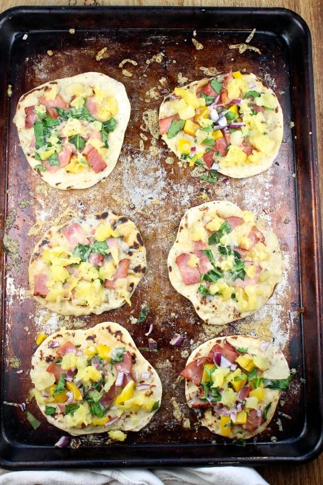 Hawaiian Ham Flatbreads