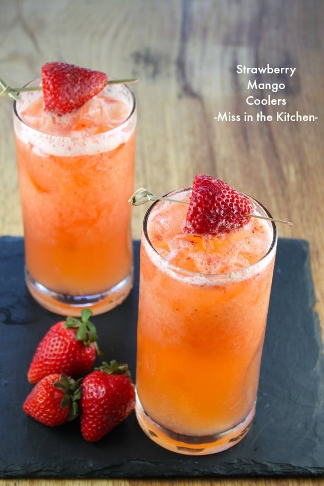 Strawberry Mango Coolers from Miss in the kitchen