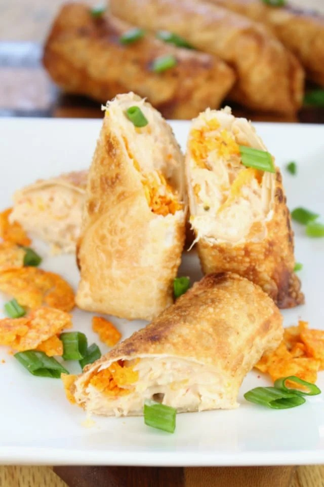 Doritos Chicken Egg Rolls from Miss in the Kitchen