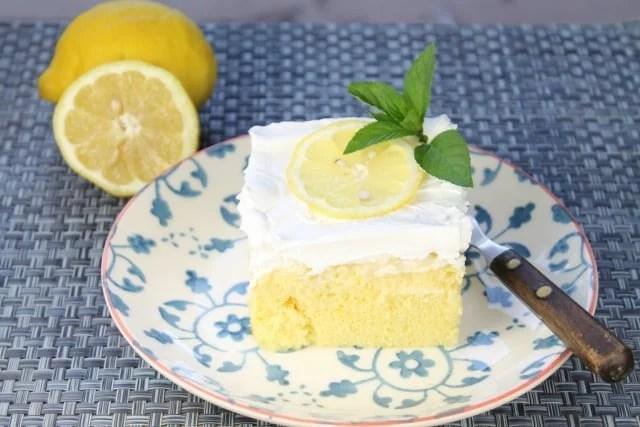 Lemon-Pineapple Poke Cake   Miss in the Kitchen