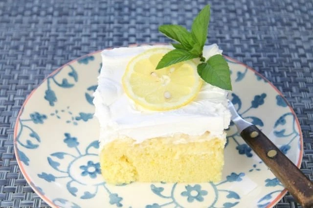Lemon-Pineapple Poke Cake from missinthekitchen.com