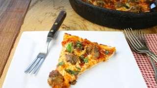 Pesto Meatball Pizza
