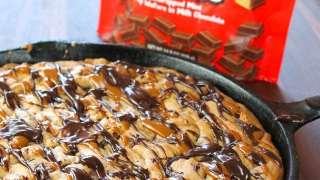 Kit Kat Skillet Cookies
