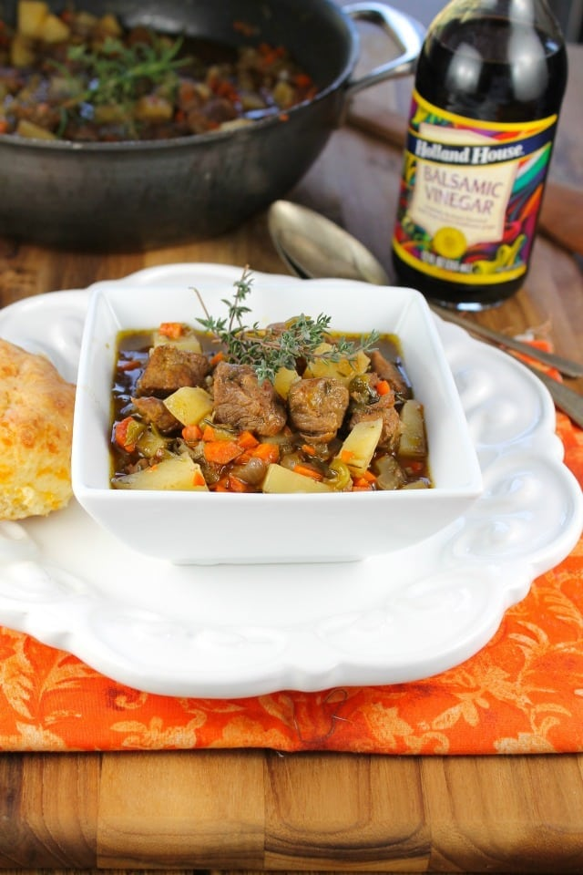 Balsamic Beef Stew from Miss in the Kitchen