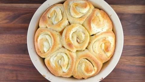 Cream Cheese Filled Brioche Sweet Rolls