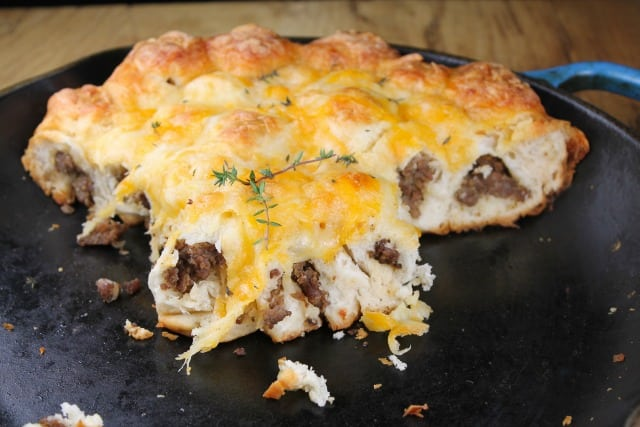 Cheesy Sausage Breakfast Pull Apart Breakfast Bake Miss in the Kitchen
