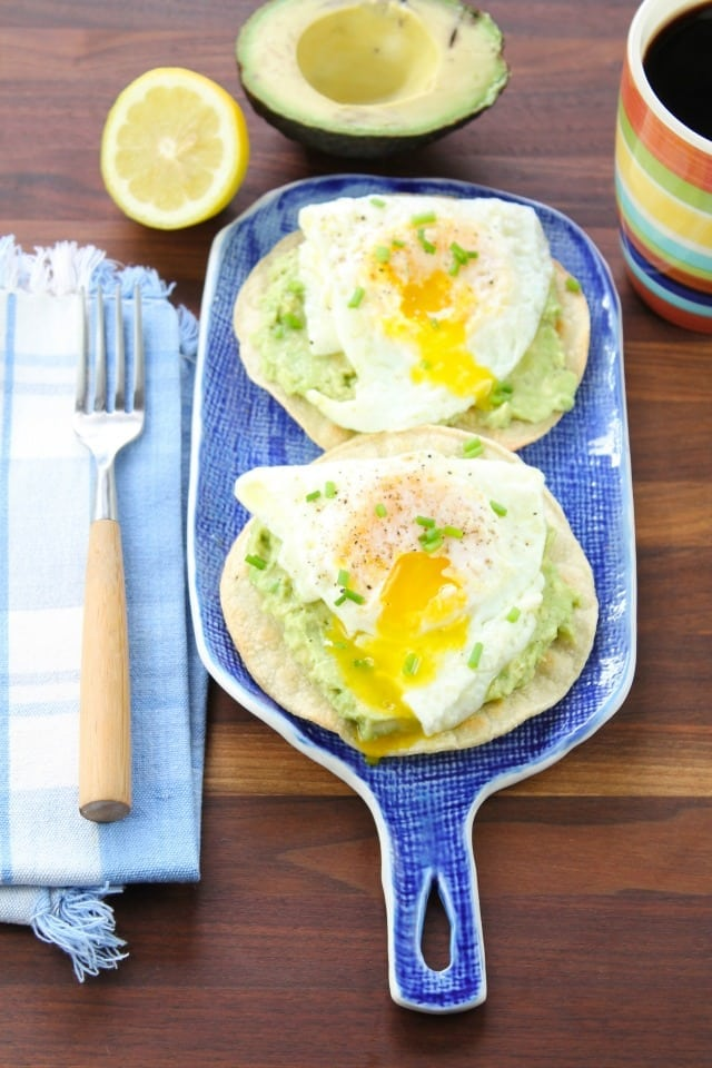 Egg and Smashed Avocado Tostadas from missinthekitchen.com