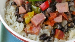 Ham with Orca Beans and Rice