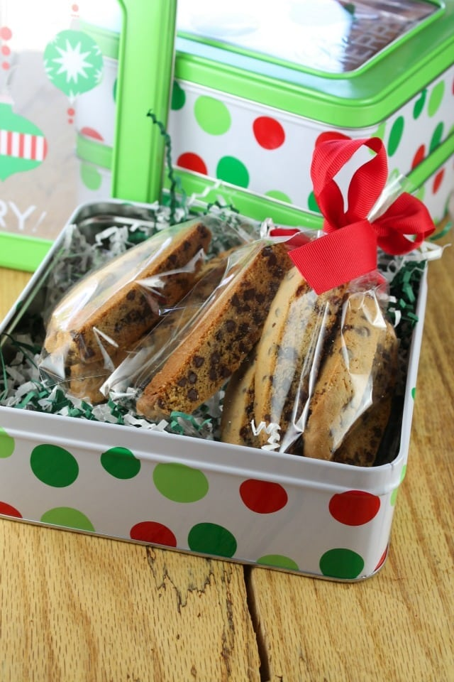 Chocolate Chip Biscotti | Miss in the Kitchen