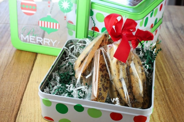 Chocolate Chip Biscotti Recipe from Miss in the Kitchen