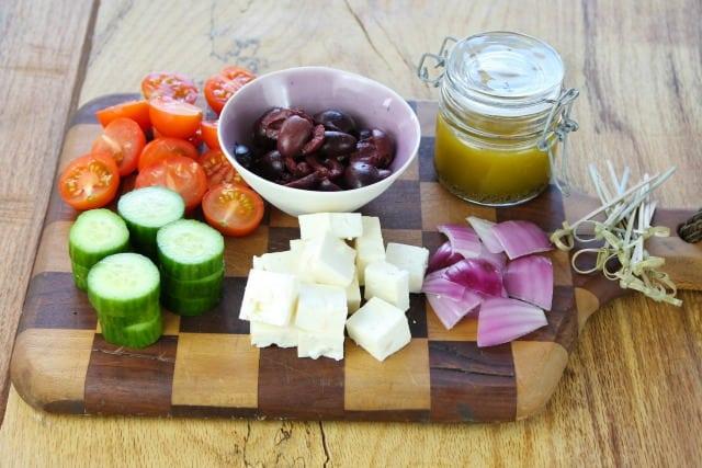 Greek Salad Skewers Recipe