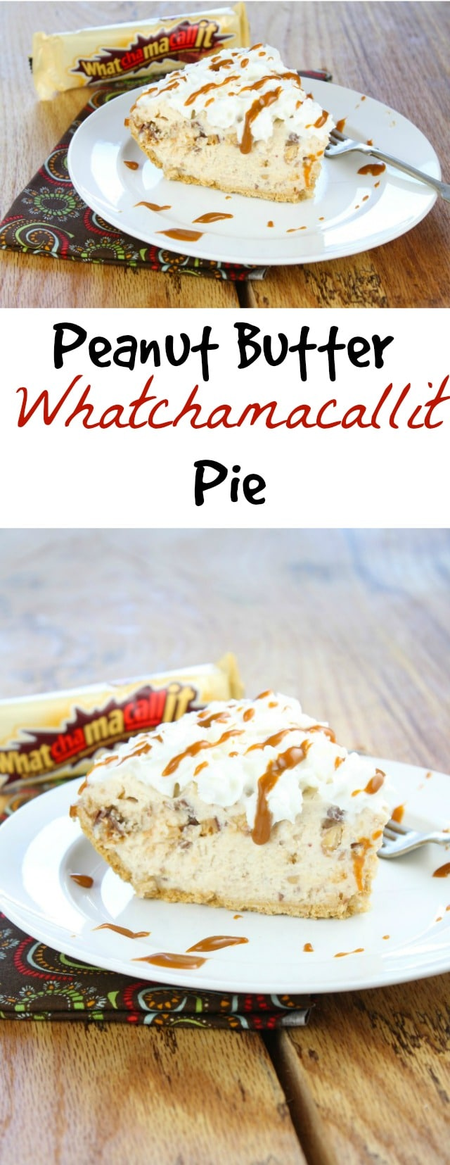 Peanut Butter Whatchamacallit Pie missinthekitchen.com