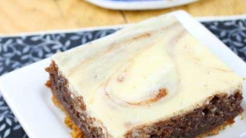 Cheesecake Swirl Brownie Bars