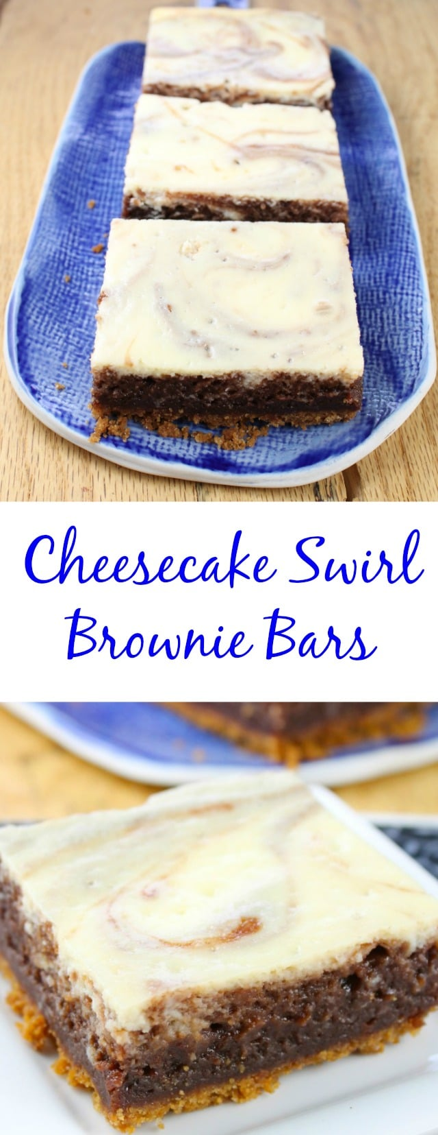 Cheesecake Swirl Brownie Bars from Dessert Mash-Ups ~ Miss in the Kitchen