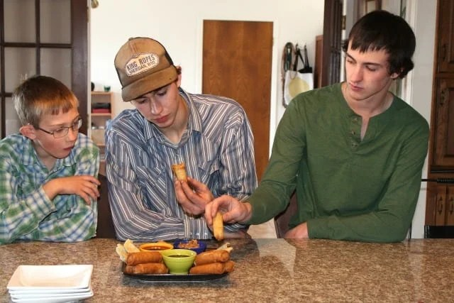 Emmet, Tucker & Cody  Tai Pei Chinese New Year  Miss in the Kitchen.com