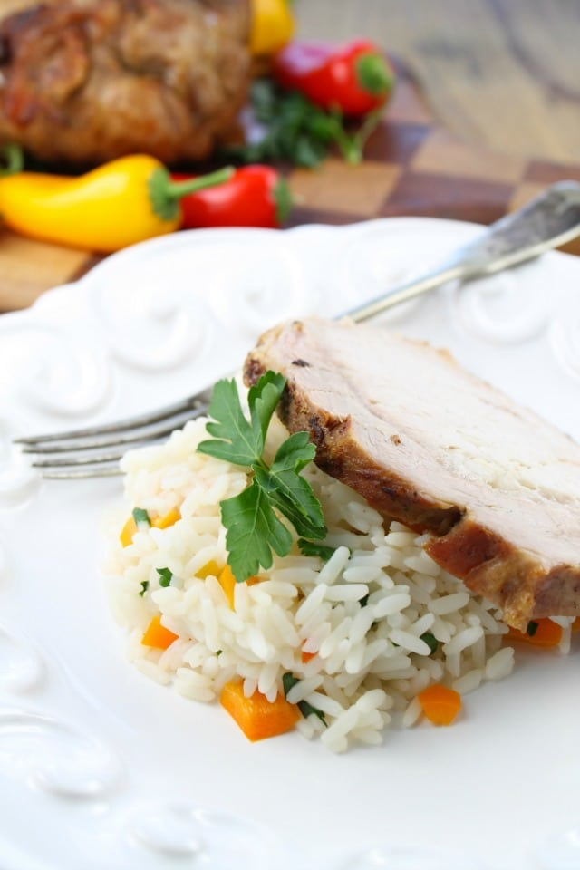 Apple Butter Braised Pork Loin Recipe from Miss in the Kitchen