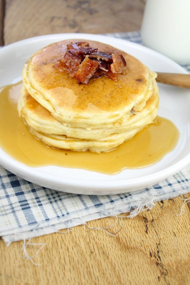 Bacon Pancakes from #StackHappy missinthekitchen.com