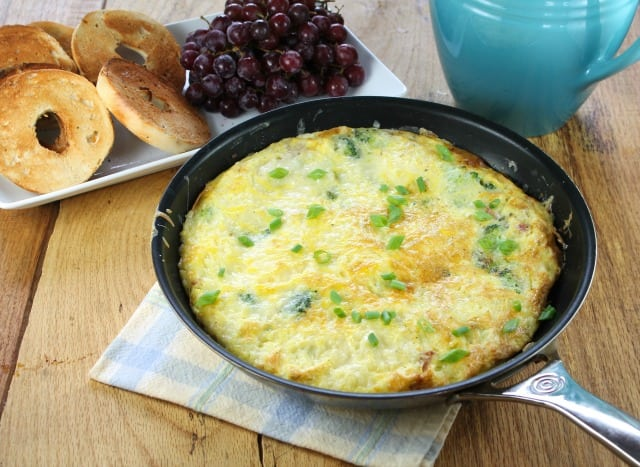 Ham and Broccoli Frittata Recipe  Miss in the Kitchen