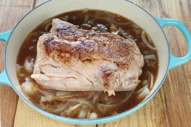 bacon fat browned pork loin