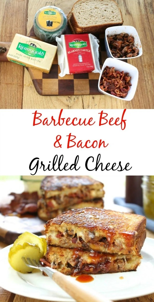 Barbecue Beef & Bacon Grilled Cheese Sandwich Recipe from missinthekitchen.com