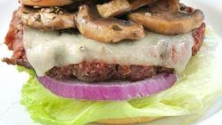 Gourmet Burgers with Red Wine Braised Mushrooms